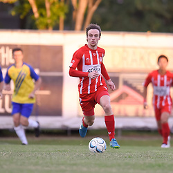 BRISBANE, AUSTRALIA - APRIL 22:  during the NPL Senior Men's Round 11 match between Olympic FC and Brisbane Strikers on April 22, 2018 in Brisbane, Australia. (Photo by Olympic FC / Patrick Kearney)