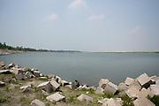 Embankment in Sariakandi, Northern Bangladesh.