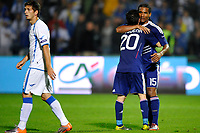 FOOTBALL - UEFA EURO 2012 - QUALIFYING - GROUP D - BOSNIA v FRANCE - 7/09/2010 - PHOTO GUY JEFFROY / DPPI - JOY FLORENT MALOUDA / MATHIEU VALBUENA (FRA)