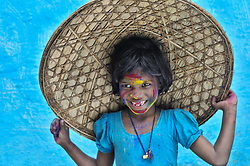 March 22, 2019 - Sylhet, Bangladesh - Bangladeshi Tea garden children posing with smile after adorning with colors on the celebration of the annual hindu festival of colours, known as Holi festival marking the onset of spring in Sylhet. (Credit Image: © Md Rafayat Haque Khan/ZUMA Wire)