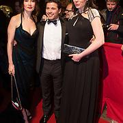 NLD/Amsterdam/20140307 - Boekenbal 2014, Carice van Houten, Geza Weisz, Halina Reijn