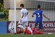 Edoardo Vergani of Italy (9) with a great chance to score during the UEFA European Under 17 Championship 2018 match between Israel and Italy at St George's Park National Football Centre, Burton-Upon-Trent, United Kingdom on 10 May 2018. Picture by Mick Haynes.