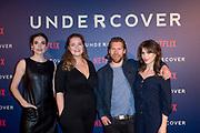 Screening van de Netflix serie Undercover in de The Movies, Amsterdam<br /> <br /> Op de foto:  Anna Drijver , Elise Schaap , Tim Haars en Lieke van den Broek