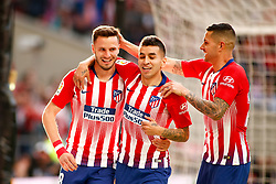 March 9, 2019 - Madrid, MADRID, SPAIN - Saul Niguez of Atletico de Madrid celebrates a goal during the spanish league, La Liga, football match played between Atletico de Madrid and CD Leganes at Wanda Metropolitano Stadium in Madrid, Spain, on March 9, 2019. (Credit Image: © AFP7 via ZUMA Wire)