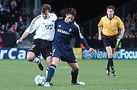Champions League 01.11.05 - Rosenborg - Real Madrid 0-2<br /> <br /> Roar Strand is stopped by Sergio Ramos<br /> Foto: Carl-Erik Erikson, Digitalsport