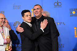 January 6, 2019 - Los Angeles, California, U.S. - Rami Malek and Graham King in the Press Room during the 76th Annual Golden Globe Awards at The Beverly Hilton Hotel. (Credit Image: © Kevin Sullivan via ZUMA Wire)