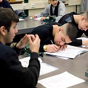 Nederland Rotterdam 4 februari 2009 20090406 Foto: David Rozing.Leerlingen VMB Noordrand college.Dutch students  basic education, holland, student, students, , pupils,  boys, boy, ....Foto: David Rozing