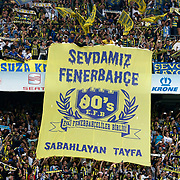 Fenerbahce's Supporters during their Turkish superleague soccer derby match Fenerbahce between Galatasaray at the Sukru Saracaoglu stadium in Istanbul Turkey on Sunday 12 May 2013. Photo by Aykut AKICI/TURKPIX