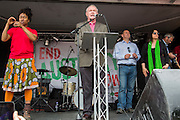 Martin McGuinness speaking at the People's Assembly Against Austerity 'End Austerity Now' demonstration attended by over 250,000 people on Saturday 20th of June 2015 sending a clear message to the Tory government; demanding  an alternative to austerity and to policies that only benefit those at the top. London, UK.
