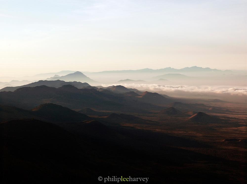 Mornig haze over the Chulu Hills, Chyulu Hills National Park, Kenya
