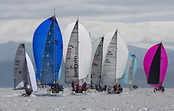 Silvers Marine Scottish Series 2017<br /> Tarbert Loch Fyne - Sailing Day 3<br /> <br /> Class 3 downwind with GBR149, Robbers Dog, Jono & Ben Shelley, Ullswater YC, VX One, GBR8538R, Jack, Mr Peter Doig, East Antrim Boat Club, J92, GBR6521, Trastada, Roddy Angus/D Challis, FYC, Half Tonner