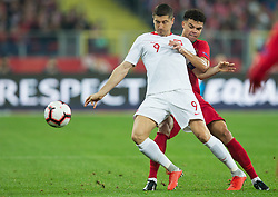 October 11, 2018 - Chorzow, Poland - Robert Lewandowski (POL), Pepe (POR) during the UEFA Nations League A group three match between Poland and Portugal at Silesian Stadium on October 11, 2018 in Chorzow, Poland. (Credit Image: © Foto Olimpik/NurPhoto via ZUMA Press)