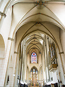 Interior view of St. Maria's Church, Augsburg, Bavaria, Germany, Low angle view