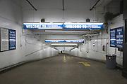 entrance to an underground parking garage in New York City