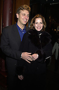 Darcy Bussell and Angus Forbes. Tiffany party. 13 December 2000. © Copyright Photograph by Dafydd Jones 66 Stockwell Park Rd. London SW9 0DA Tel 020 7733 0108 www.dafjones.com