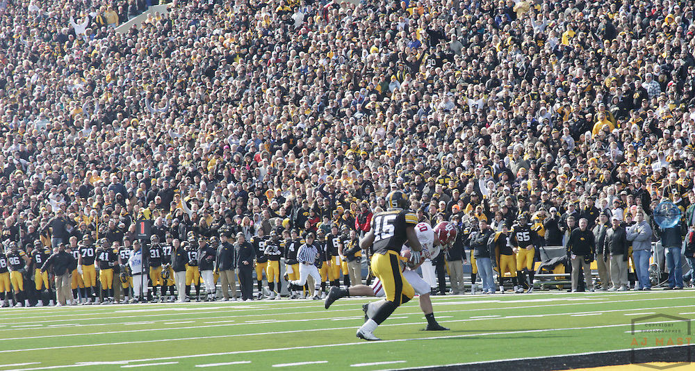 31 October 2009: Indiana safety Austin Thomas (20)  as the Iowa Hawkeyes played the Indiana Hoosiers in a college football game in Iowa City, Iowa.