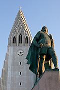 Leifur Eiriksson & Hallgrimskirkja, Reykjavik