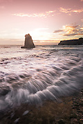 Davenport Beach at Sunset