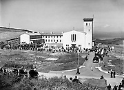 Dedication of New Franciscan Church at Rossnowlagh, Co. Donegal..29/06/1952..There had been 500 years of Franciscan history in Donegal when the link was broken in the mid-19th century. However, the Franciscan order re-established themselves in County Donegal when new friary buildings were built in Rossnowlagh in the early 1950s. The land for the Friary was donated by Charles Williamson to his brother and Franciscan, Brother Paschal Williamson.
