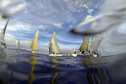 Peelport Clydeport Largs Regatta Week 2013 <br /> <br /> Class 2 Leeward Mark<br /> <br /> Largs Sailing Club, Largs Yacht Haven, Scottish Sailing Institute