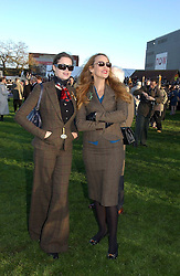 Left to right, JERRY HALL and JASMINE GUINNESS at the 50th running of the Hennessy Gold Cup at Newbury Racecourse, Berkshire on 25th November 2006.<br /><br />NON EXCLUSIVE - WORLD RIGHTS