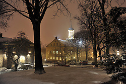 Snow falls over Christmas City USA Monday, December 24th, 2012 in Bethlehem, Pennsylvania. The iconic Christmas storybook town, Bethlehem has not seen a white christmas since 2002. EAST COAST NEWS PHOTO | CHRIS POST
