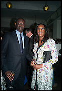 TIDJANE THIAM; ANNETTE THIAM, Launch of Rachel Kelly's memoir 'Black Rainbow' about recovering from depression with the help of poetry published by Hodder & Stoughton , ( Author proceeds will be given to the charities SANE and United Response ). Cafe of the National Gallery.  London. 7 May 2014