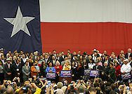 McAllen, TX - 13 Feb 2008 -.Senator Hillary Clinton, D-New York, speaks at a rally on Wednesday morning at the McAllen Convention Center.