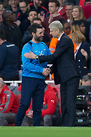 Lincoln City manager Danny Cowley shakes hands with Arsenal manager Arsene Wenger       <br /> <br /> <br /> Photographer Craig Mercer/CameraSport<br /> <br /> The Emirates FA Cup Sixth Round - Arsenal v Lincoln City - Saturday 11th March 2017 - The Emirates - London<br />  <br /> World Copyright © 2017 CameraSport. All rights reserved. 43 Linden Ave. Countesthorpe. Leicester. England. LE8 5PG - Tel: +44 (0) 116 277 4147 - admin@camerasport.com - www.camerasport.com