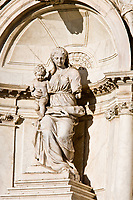 statue of the church Madona de la Salute in the beautiful city of venice in italy