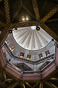 Israel, Galilee, Nazareth, Interior of the Basilica of the Annunciation the ceiling