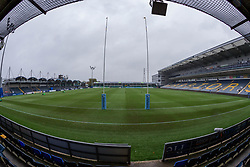 A view of the stadium from behind the posts - Mandatory by-line: Nick Browning/JMP - 24/10/2020 - RUGBY - Sixways Stadium - Worcester, England - Worcester Warriors Women v Wasps FC Ladies - Allianz Premier 15s