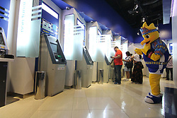 June 4, 2017 - Jakarta, DKI Jakarta, Indonesia - The people of Jakarta and its environs that enliven Mal Kota Kasablanka today, showed their enthusiasm to witness the happening act by Mascot BIO. BIO Mascot activities aimed to bring people closer to the sport of badminton are located at my BCA  in Kota Kasablanka, Gandaria City, and Central Park. This event was held to welcome the prestigious event of BCA INDONESIA OPEN METLIFE BWF WORLD SUPER SERIES PREMIER 2017 which will be held on 12-18 June 2017 at Plenary Hall Jakarta Convention Center  (Credit Image: © Kuncoro Widyo Rumpoko/Pacific Press via ZUMA Wire)