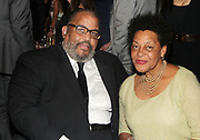 NEW YORK, NEW YORK-JUNE 4: (L-R) Photographic Artist Dawoud Bey and Photographic Artist Carrie Mae Weems attend the 2019 Gordon Parks Foundation Awards Dinner and Auction Inside celebrating the Arts & Social Justice held at Cipriani 42nd Street on June 4, 2019 in New York City. (Photo by Terrence Jennings/terrencejennings.com)