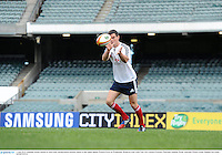 4 June 2013; Jonathan Sexton, British & Irish Lions, during kickers practice ahead of their game against Western Force on Wednesday. British & Irish Lions Tour 2013, Kickers Practice, Patersons Stadium, Perth, Australia. Picture credit: Stephen McCarthy / SPORTSFILE