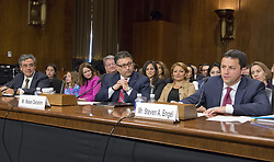 May 10, 2017 - Washington, District of Columbia, United States of America - From left to right: Noel J. Francisco, Makan Delrahim, and  Steven A. Engel testify before the United States Senate Committee on the Judiciary on their nominations to be Solicitor General of the US; Assistant Attorney General, Antitrust Division of the US Department of Justice; and Assistant Attorney General, Office of Legal Counsel, US Department of Justice; respectively, on Capitol Hill in Washington, DC on Wednesday, May 10, 2017..Credit: Ron Sachs / CNP (Credit Image: © Ron Sachs/CNP via ZUMA Wire)