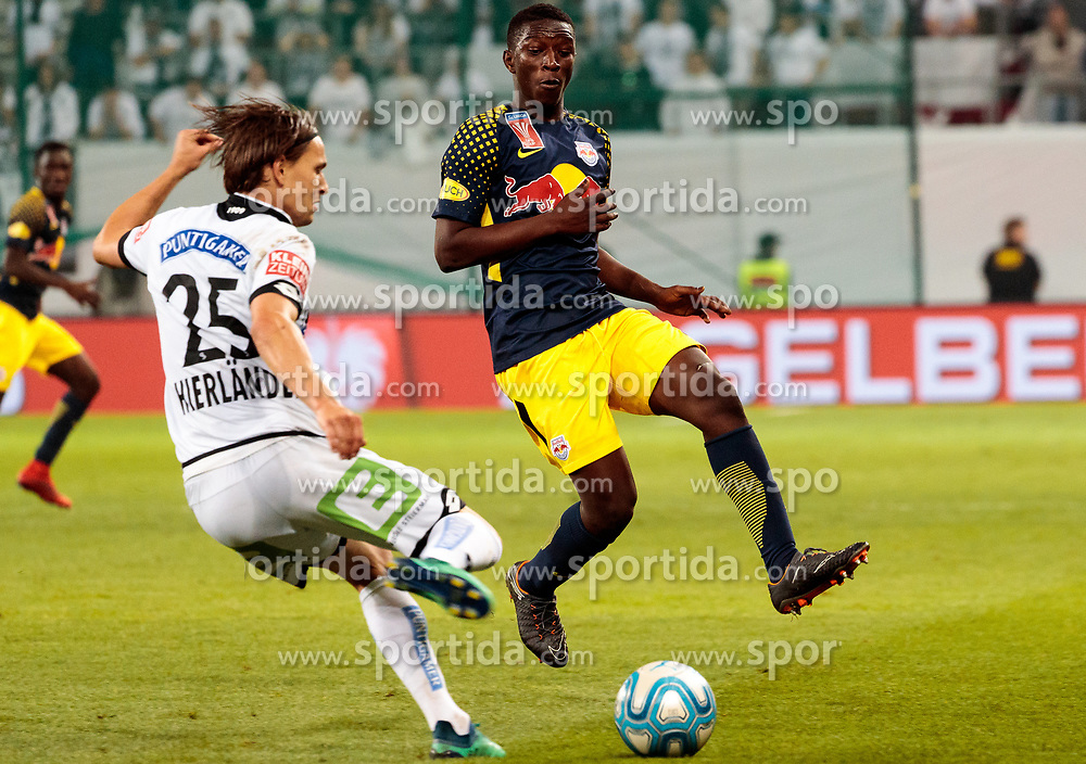 09.05.2018, Woerthersee Stadion, Klagenfurt, AUT, OeFB Uniqa Cup, SK Puntigamer Sturm Graz vs FC Red Bull Salzburg, Finale, im Bild Stefan Hierländer (SK Puntigamer Sturm Graz), Amadou Haidara (FC Red Bull Salzburg) // during the final match of the ÖFB Uniqa Cup between SK Puntigamer Sturm Graz and FC Red Bull Salzburg at the Woerthersee Stadion in Klagenfurt, Austria on 2018/05/09. EXPA Pictures © 2018, PhotoCredit: EXPA/ Johann Groder