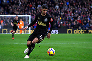 Ayoze Perez of Newcastle United in action. Premier League match, Crystal Palace v Newcastle Uutd at Selhurst Park in London on Sunday 4th February 2018. pic by Steffan Bowen, Andrew Orchard sports photography.