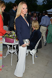 The HON.ELEANOR WELLESLEY at The Ralph Lauren & Vogue Wimbledon Summer Cocktail Party at The Orangery, Kensington Palace, London on 22nd June 2015.  The event is to celebrate ten years of Ralph Lauren as official outfitter to the Championships, Wimbledon.