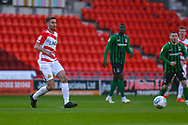 Matty Blair of Doncaster Rovers (17) passes the ball during the EFL Sky Bet League 1 match between Doncaster Rovers and Coventry City at the Keepmoat Stadium, Doncaster, England on 4 May 2019.