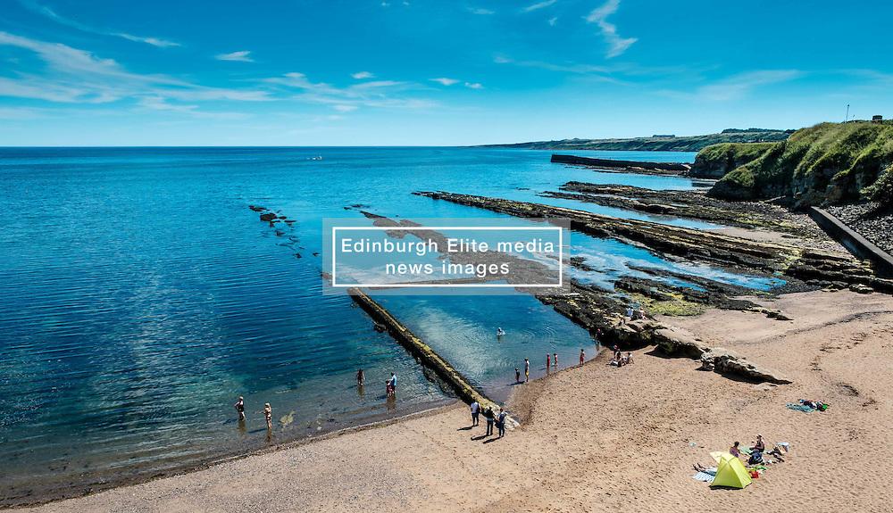 The beach at St Andrews, Fife Scotland near the castle<br /> <br /> (c) Andrew Wilson | Edinburgh Elite media