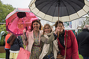 KIRSTY ALLSOPP, CLEMENTINE HAMBRO; SOF MCVEY, Chelsea Flower Show, 18 May 2015.