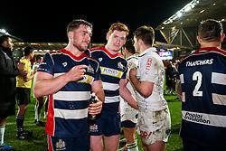 Nick Fenton-Wells and Jack Tovey of Bristol Rugby - Rogan Thomson/JMP - 11/12/2016 - RUGBY UNION - Ashton Gate Stadium - Bristol, England - Bristol Rugby v Pau - European Rugby Challenge Cup.