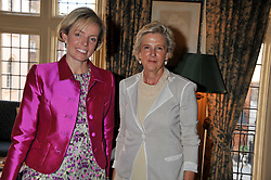 Left to right, JEMIMA MCDONNELL and ANNA VINTON at a lunch in aid of the charity Kids Company held at Mark's Club, 46 Charles Street, London on 3rd October 2011.