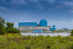 Nuclear Electric Power Generation Plant and cooling lake near Clinton Illinois