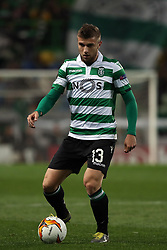 February 14, 2019 - Lisbon, Portugal - Sporting's defender Stefan Ristovsk from Macedonia in action during the UEFA Europa League Round of 32 First Leg football match Sporting CP vs Villarreal CF at Alvalade stadium in Lisbon, Portugal on February 14, 2019. (Credit Image: © Pedro Fiuza/NurPhoto via ZUMA Press)