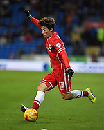 Kim Bo-Kyung of Cardiff city in action. Skybet football league championship match, Cardiff city v Rotherham Utd at the Cardiff city stadium in Cardiff, South Wales on Saturday 6th December 2014<br /> pic by Andrew Orchard, Andrew Orchard sports photography.