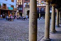 Espagne, Pays Basque, Guipuscoa, Fontarrabie, palce Gipuzkoa // Spain, Basque Country, Guipuscoa, Hondarribia, Gipuzkoa square