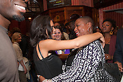 ROSARIO DAWSON; PAULETTE RANDALL, West End opening of RSC production of Julius Caesar at the Noel Coward Theatre on Saint Martin's Lane. After-party  at Salvador and Amanda, Gt. Newport St. London. 15 August 2012.