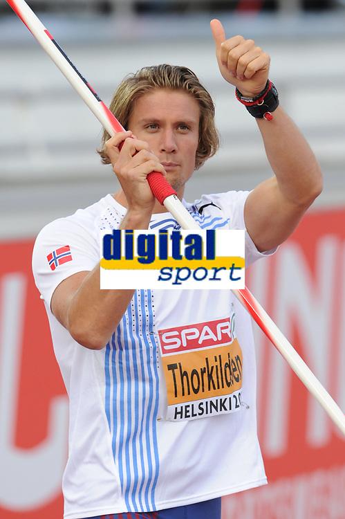 ATHLETICS - EUROPEAN CHAMPIONSHIPS 2012 - HELSINKI (FIN) - DAY 1 - 27/06/2012 - PHOTO STEPHANE KEMPINAIRE / KMSP / DPPI - <br /> JAVELIN - MEN - ANDREAS THORKILDSEN (NOR)